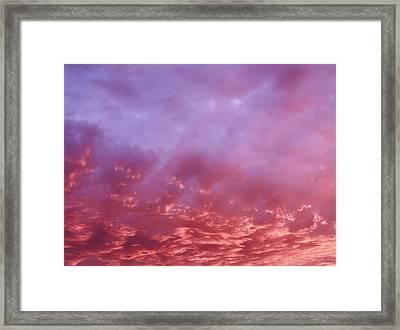 January Sky Framed Print