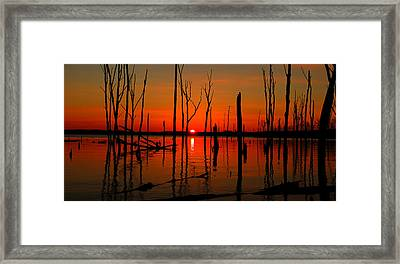 January Sunrise Framed Print by Raymond Salani III