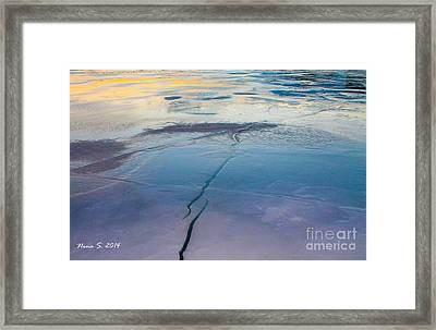 Framed Print featuring the photograph January Sunset On A Frozen Lake by Nina Silver