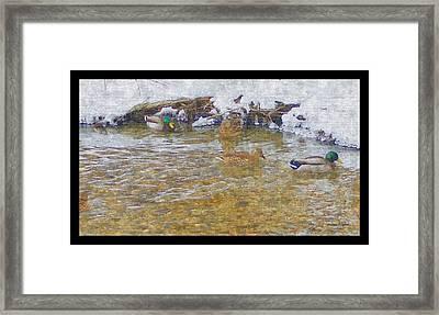 January Thaw At Riverside I Framed Print by Rosemarie E Seppala