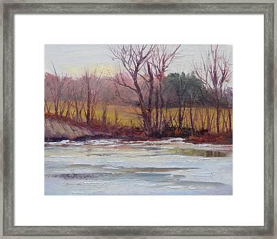 January Thaw Framed Print by Judy Fischer Walton