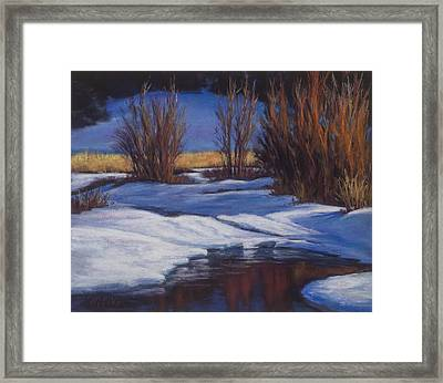 January Thaw Framed Print
