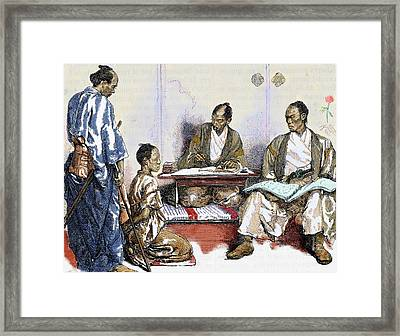 Japan 19th Century Judge Drawing Framed Print by Prisma Archivo