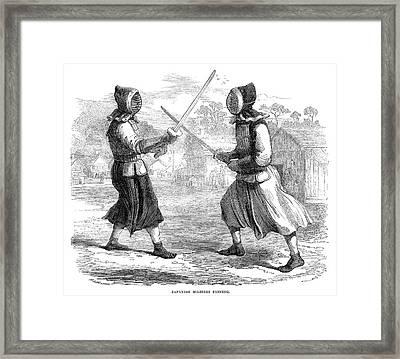 Japan Fencing, 1864 Framed Print