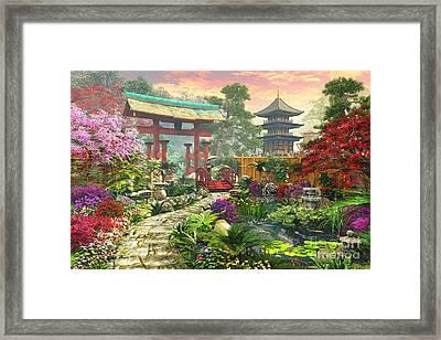 Japan Garden Variant 1 Framed Print by Dominic Davison