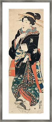 Japan Geisha, C1825 Framed Print by Granger
