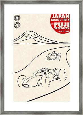 Japan Grand Prix 1967 Framed Print by Georgia Fowler