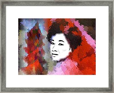 Framed Print featuring the digital art Japan by Kelly McManus