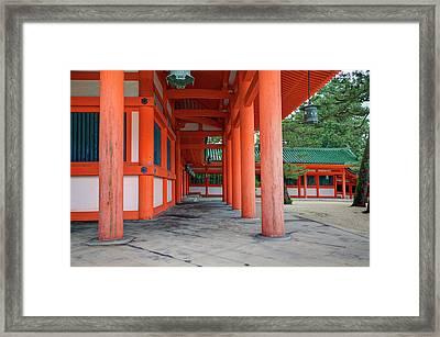 Japan, Kyoto Colorful Shinto Shrine Framed Print