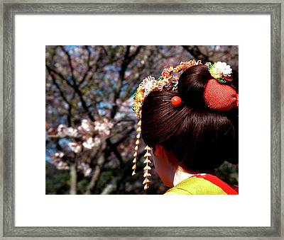 Japan, Kyoto Rear View Close-up Framed Print by Jaynes Gallery