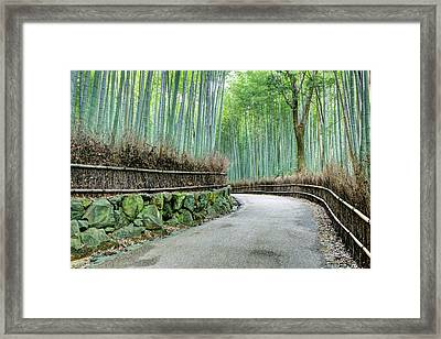 Japan, Kyoto Road Framed Print
