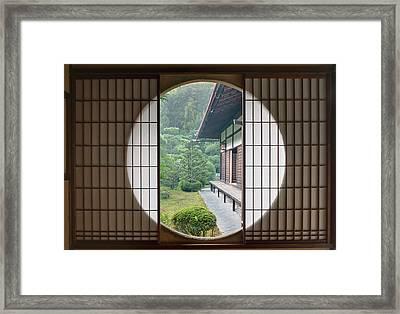 Japan, Kyoto, Sesshuji Temple, Tea Framed Print