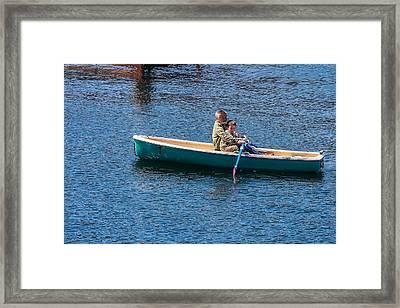 Japan Lake Ashi  - Helping Hand Framed Print