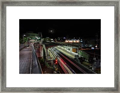 Japan Train Night Framed Print