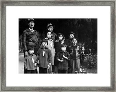 Japanese-american Mochida Family Wear Framed Print