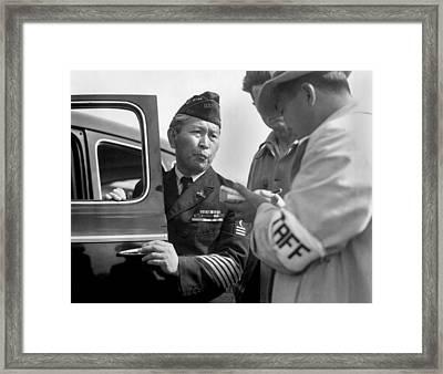 Japanese-american Veteran, Dressed Framed Print by Everett