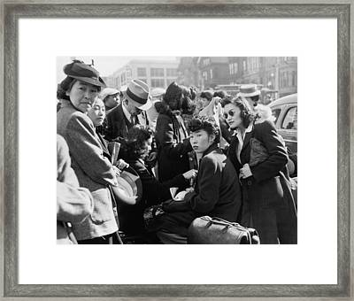 Japanese Americans, Mostly Fashionable Framed Print