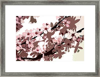 Japanese Blossom Framed Print by Sarah OToole