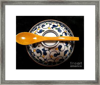 Framed Print featuring the photograph Japanese Bowl by Carol Sweetwood