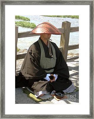 Japanese Buddhist Monk Framed Print by Pg Reproductions