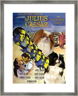 Japanese Chin Art - Julius Caesar Movie Poster Framed Print by Sandra Sij