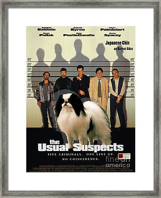 Japanese Chin Art Canvas Print - The Usual Suspects Movie Poster Framed Print by Sandra Sij