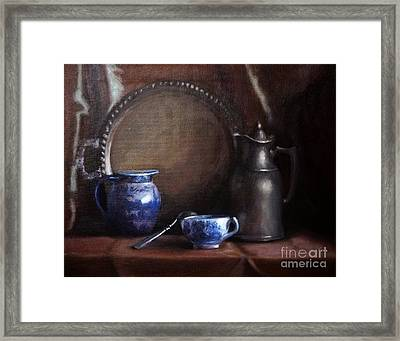 Japanese China And Pewter Framed Print