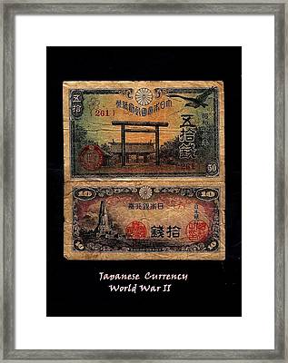 Japanese Currency From World War II Framed Print