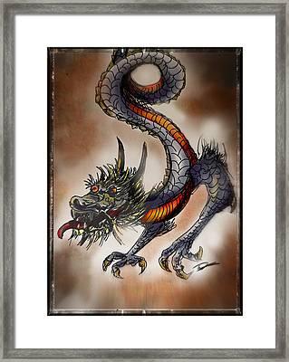 Japanese Dragon Framed Print by Tim Nichols