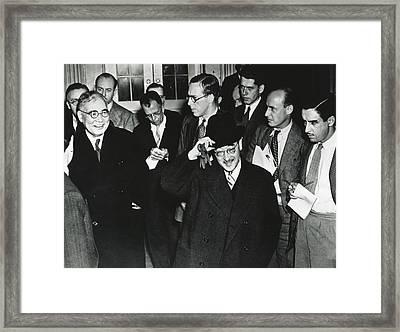 Japanese Envoys In Washington Talk Framed Print
