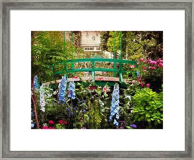 Japanese Footbridge Framed Print by Jessica Jenney