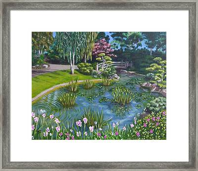 Framed Print featuring the painting Japanese Garden by Amelie Simmons