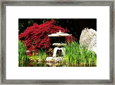 Framed Print featuring the photograph Japanese Garden by Angela DeFrias