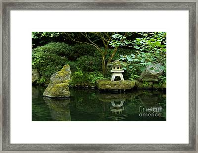 Japanese Garden Calmness Framed Print by Christiane Schulze Art And Photography