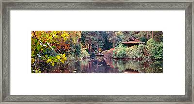 Japanese Garden In Autumn, Tatton Park Framed Print by Panoramic Images