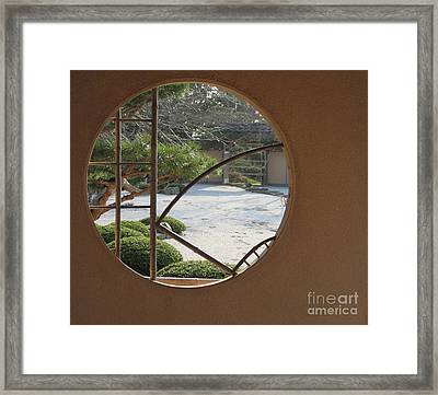 Framed Print featuring the photograph Japanese Garden by Kathie Chicoine