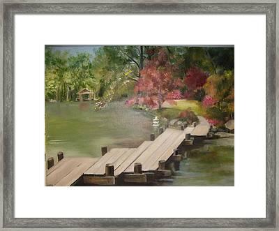 Japanese Garden Maymount Framed Print