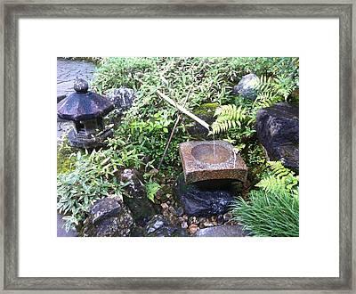 Japanese Garden Meditation Framed Print