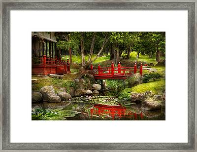 Japanese Garden - Meditation Framed Print by Mike Savad