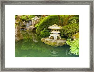 Japanese Garden Framed Print by Nur Roy