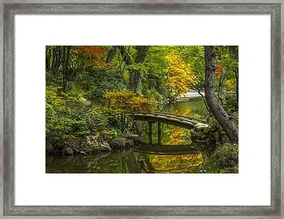 Japanese Garden Framed Print by Sebastian Musial