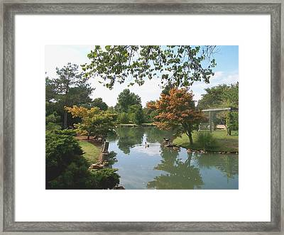 Japanese Gardens 2 Framed Print by Julie Grace