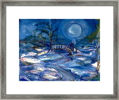 Japanese Gardens In Winter Framed Print by Cher Reissig-Daley