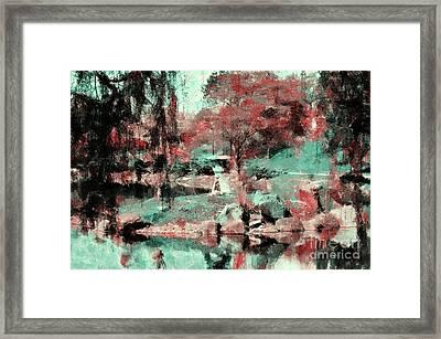 Japanese Garden's Framed Print by Kathleen Struckle
