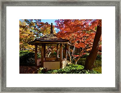 Framed Print featuring the photograph Japanese Gazebo by Ricardo J Ruiz de Porras