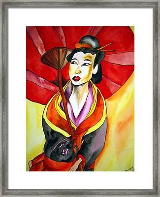Japanese Geisha Framed Print by Sacha Grossel