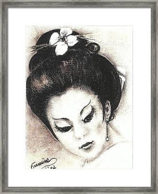 Japanese Girl. Framed Print