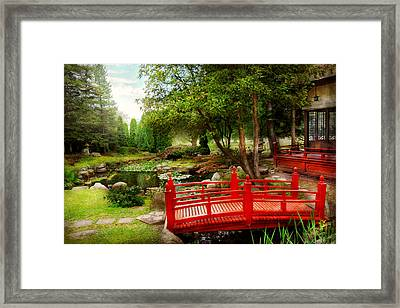 Japanese - Harmony And Nature Framed Print by Mike Savad