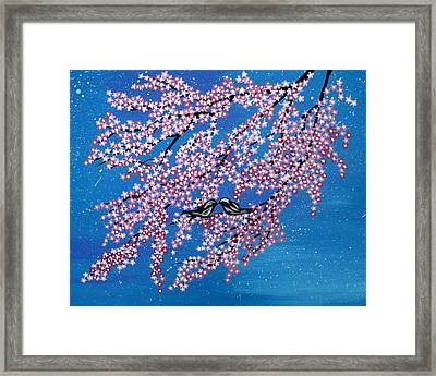 Japanese Joy Framed Print by Cathy Jacobs