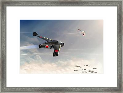 Japanese Kayaba Katsuodori Ww2 Jet Framed Print by John Wills